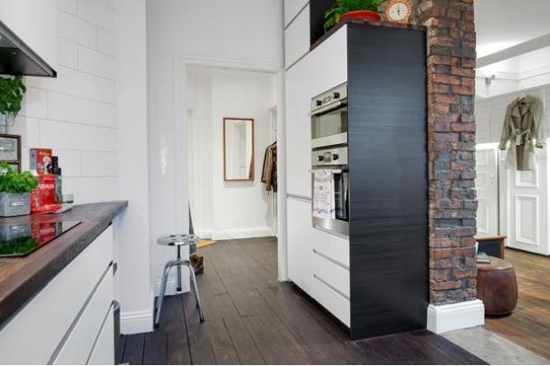 Góc nhỏ này được bố trí kín đáo và khéo léo bên trong cùng của căn hộ.