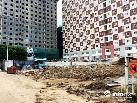Cơ sở hạ tầng, tiện ích chung của dự án vẫn chỉ là bãi đất nham nhở.