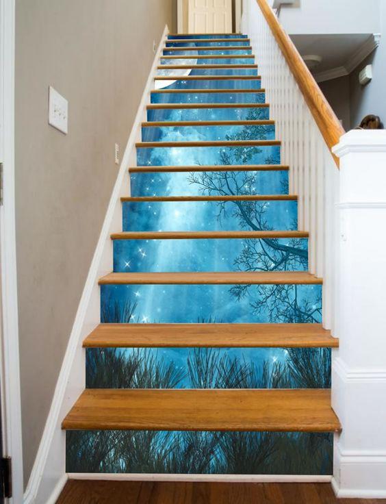 Mang cả bầu trời đêm với những vì sao lấp lánh cho cầu thang nhà bạn.