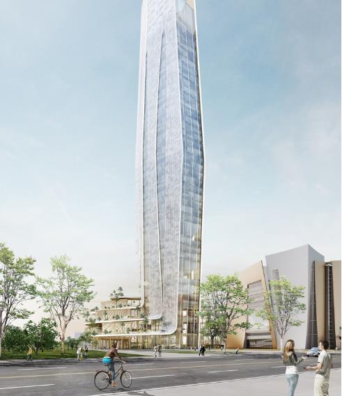 Kiến trúc sư Elizabeth de Portzamparcm khẳng định, phương án thiết kế không gian mở với cây cỏ, ánh sáng tự nhiên sẽ giúp kết nối tòa tháp với cảnh quan thành phố xung quanh.
