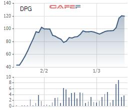 Diễn biến giá cổ phiếu DPG của Đạt Phương.