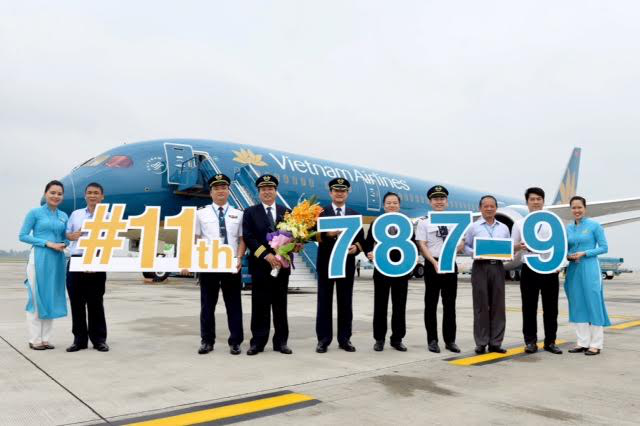 Chiếc Boing 787-9 thứ 11 gia nhập đội tàu bay 787 của Vietnam Airlines.