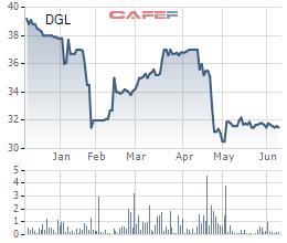Diễn biến giá cổ phiếu DGL trong 6 tháng gần đây.