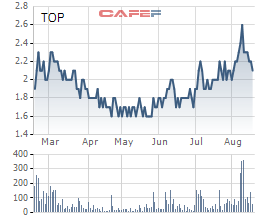 Diễn biến giá cổ phiếu TOP trong 6 tháng gần đây.