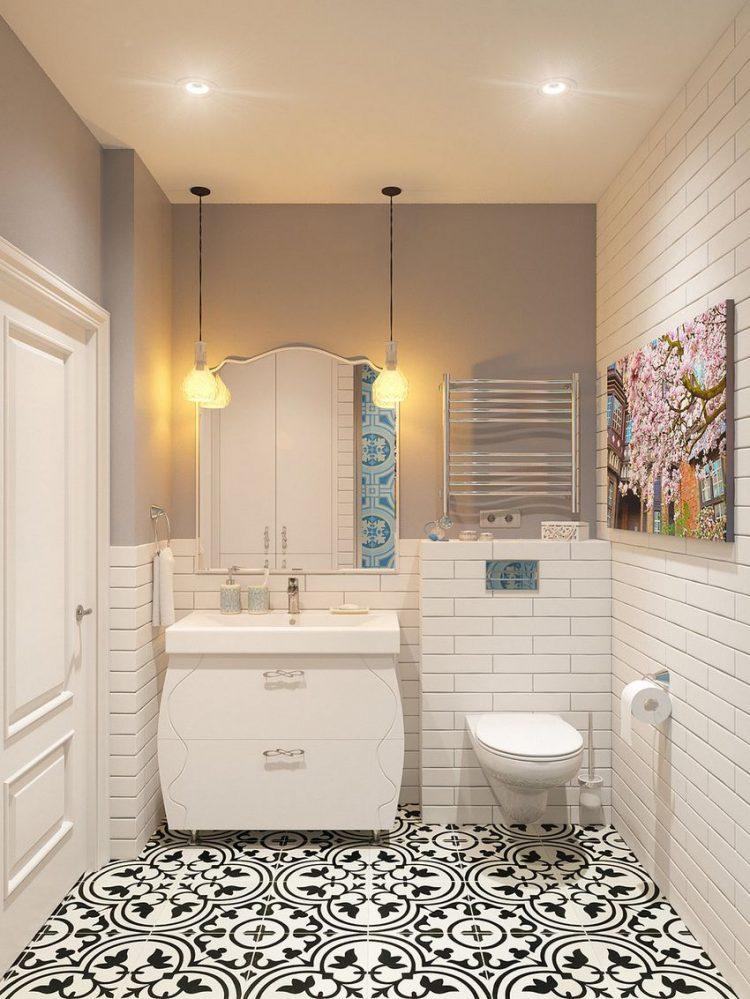 Cũng với tông màu trắng chủ đạo, nhà vệ sinh được thiết kế rộng và rất tiện nghi.