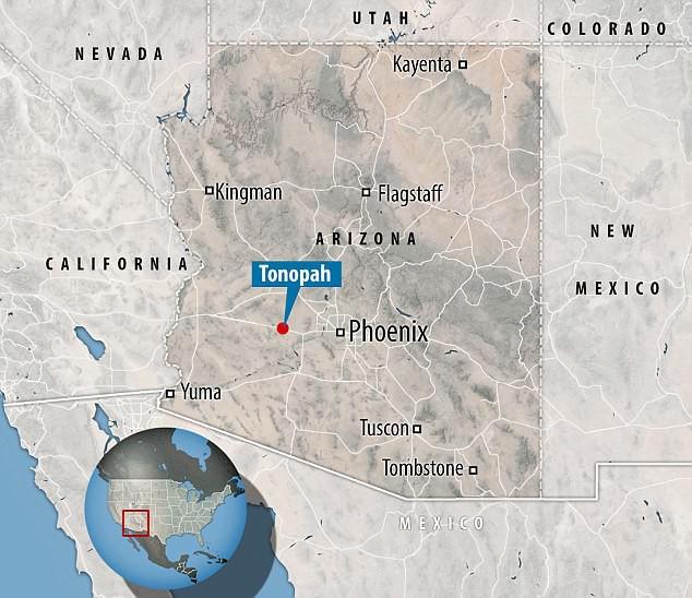 Vị trí gần 25.000 mẫu đất ở Tonopah (Bang Arizona, Mỹ) mà Tỷ phú Bill Gates đã mua.