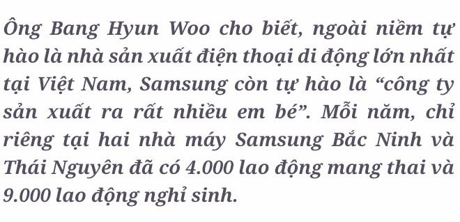 Phó Tổng giám đốc Samsung Việt Nam: Chúng tôi rất vui khi là công ty sản xuất ra rất nhiều em bé ở Việt Nam! - Ảnh 1.