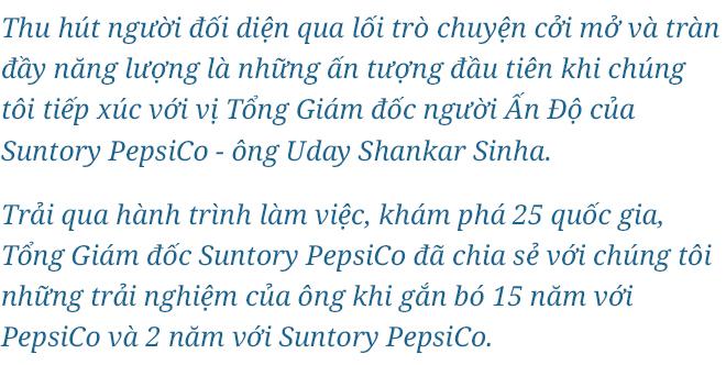 CEO Suntory PepsiCo - 23 năm nuôi dưỡng niềm tin của người tiêu dùng - Ảnh 1.