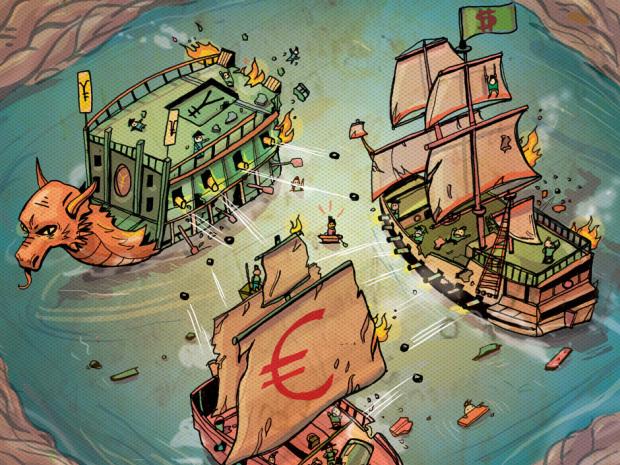 Một cuộc chiến tiền tệ có thể nổ ra nếu Mỹ không còn mặn mà với đồng USD mạnh.