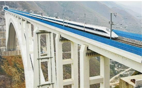 Tuyến Vũ Hán – Quảng Châu là tuyến đường sắt có tốc độ cao nhất thế giới với tốc độ tối đa là 394 km/h