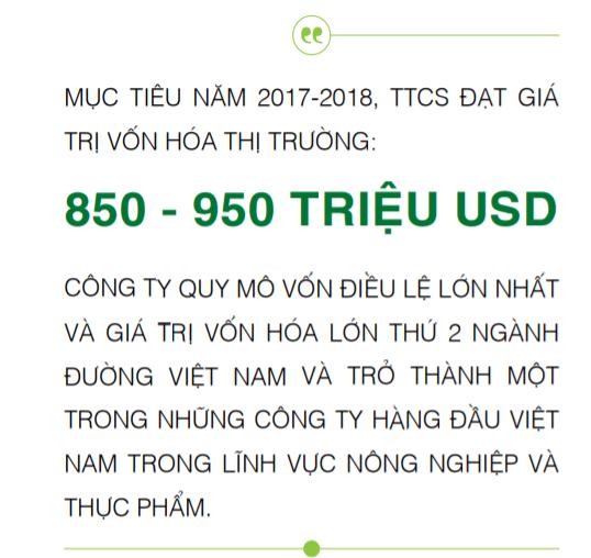 Nguồn: Báo cáo thường niên niên độ tài chính 2016-2017 SBT vừa mới công bố