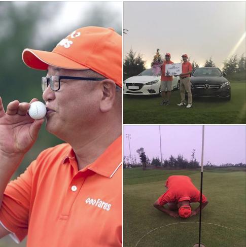 Hình ảnh đẹp của Golfer người Hàn Quốc sau cú đánh thần thánh hole-in-one tại giải FLC Faros.
