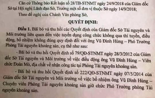 Nhiều cán bộ Sở TN-MT Thanh Hóa mất ghế sau rà soát - Ảnh 1.