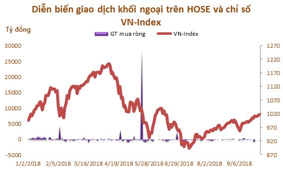 9 tháng đầu năm: Khối ngoại mua ròng 31.680 tỷ đồng trên HOSE - Ảnh 1.