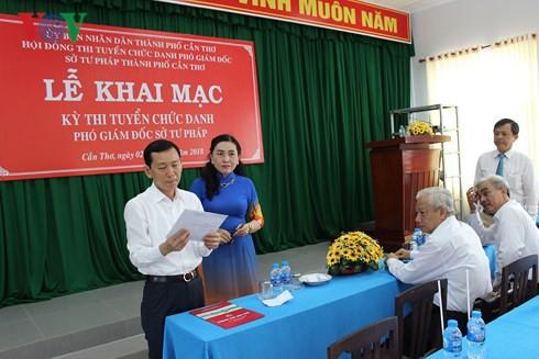 Cần Thơ tổ chức thi tuyển chức danh Phó Giám đốc Sở Tư pháp - Ảnh 2.