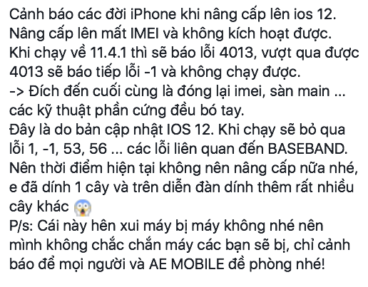 iPhone biến thành cục gạch sau khi nâng cấp iOS 12 - Ảnh 4.