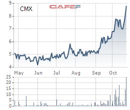 Camimex (CMX): Quý 3 lãi 41 tỷ đồng cao gấp 8 lần cùng kỳ - Ảnh 1.