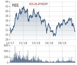 REE: Cổ phiếu rớt sâu, quý 3 lãi ròng giảm do áp lực chi phí tài chính - Ảnh 1.