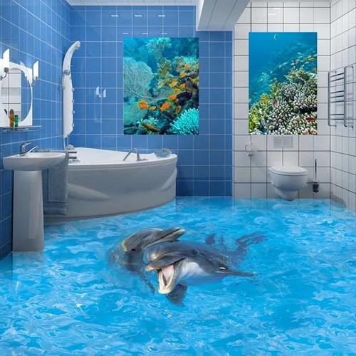 Những sàn nhà lát hình 3D khiến căn phòng như hòa mình vào môi trường xung quanh - Ảnh 9.
