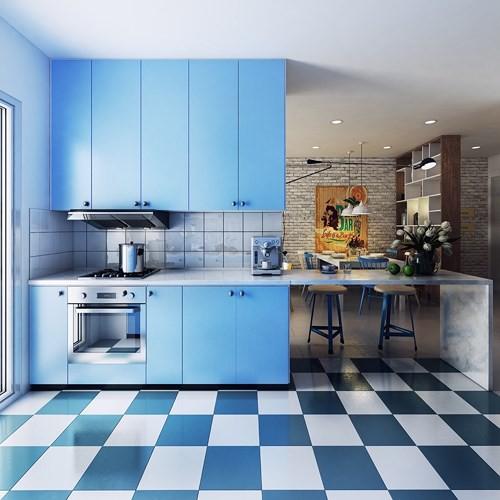 Ngắm phòng bếp được thiết kế lung linh với màu xanh dương - Ảnh 9.