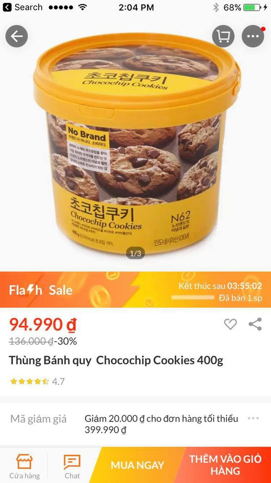 Flash sales sale, Lazada selling heavenly cookie ?! - Photo 1.