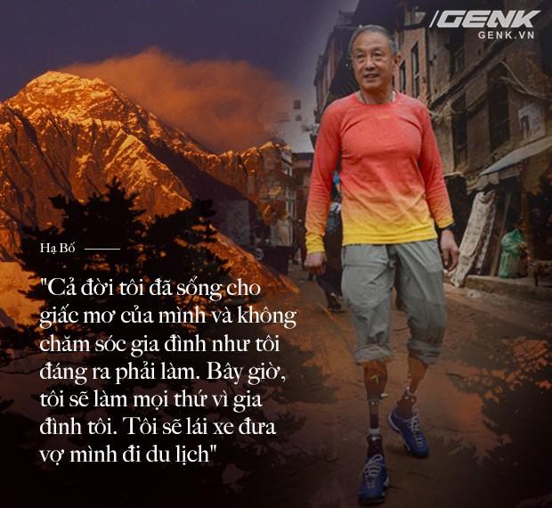 Bị ung thư và mất cả 2 chân, nhưng định mệnh nói người đàn ông 69 tuổi này phải chinh phục đỉnh Everest - Ảnh 9.
