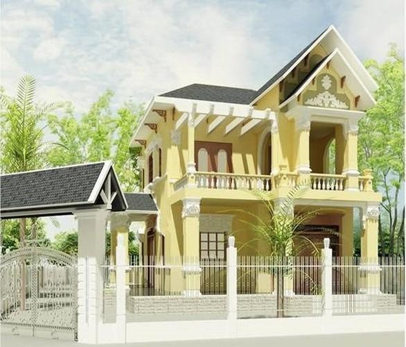 10 thiết kế biệt thự 2 tầng có mức đầu tư vừa phải - Ảnh 1.