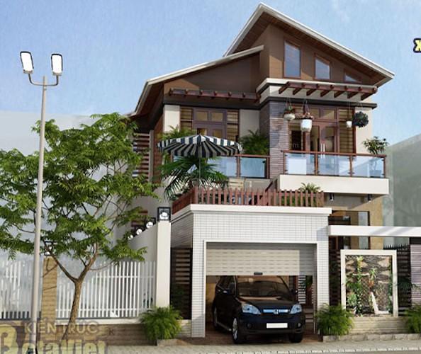 10 thiết kế biệt thự 2 tầng có mức đầu tư vừa phải - Ảnh 10.