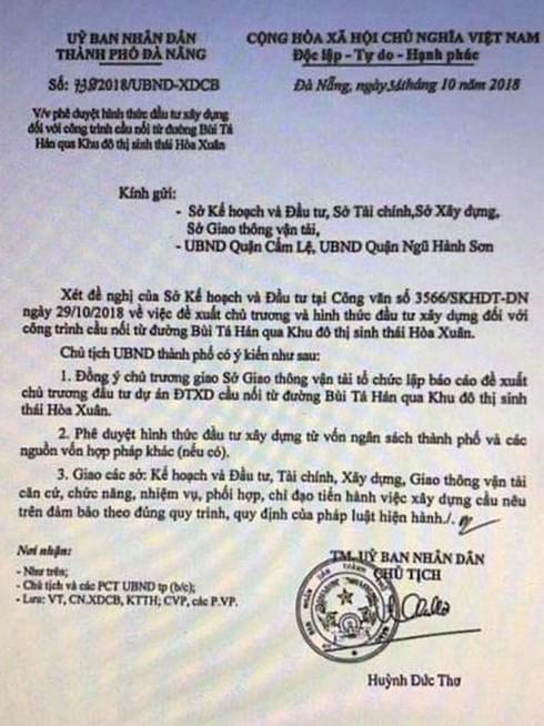 Đà Nẵng: Giả văn bản của Chủ tịch UBND thành thị để đẩy giá đất sốt ảo - Ảnh 1.