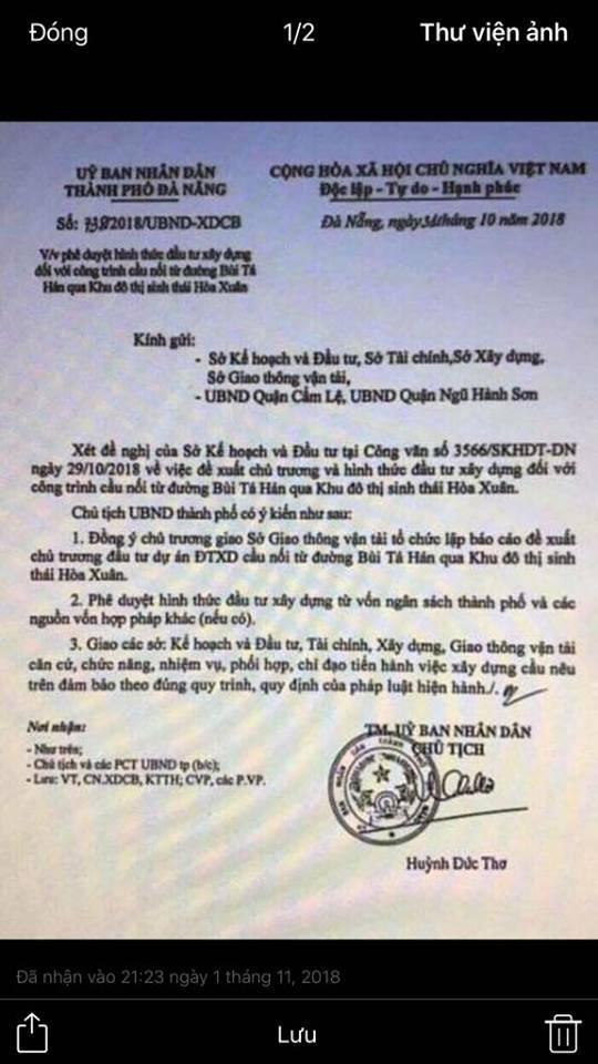 Vụ giả mạo công văn Chủ tịch Đà Nẵng: Ông Huỳnh Đức Thơ đề nghị công an vào cuộc - Ảnh 1.