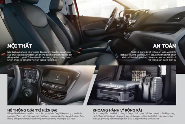 Xe VinFast Fadil: Có 5 màu lựa chọn, nhiều trang bị hiện đại, an toàn bậc nhất phân khúc - Ảnh 2.