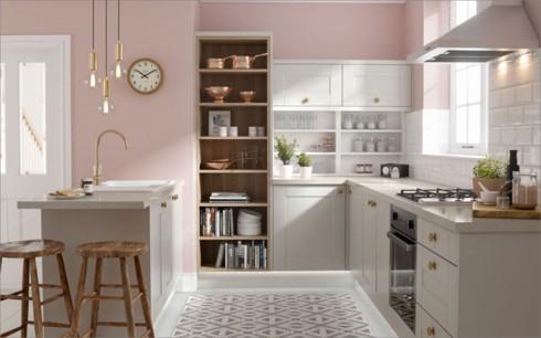 Phòng bếp ấm cúng có gam màu hồng - Ảnh 2.