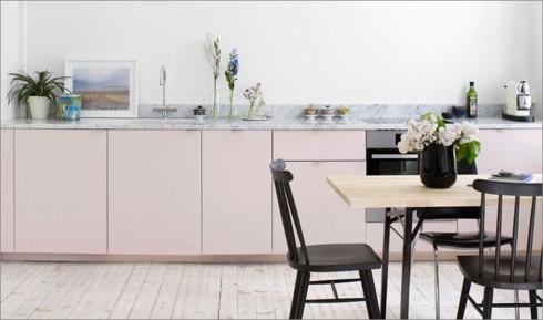 Phòng bếp ấm cúng có gam màu hồng - Ảnh 3.
