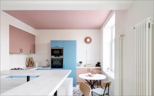 Phòng bếp ấm cúng có gam màu hồng - Ảnh 5.