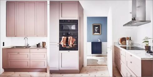 Phòng bếp ấm cúng có gam màu hồng - Ảnh 6.