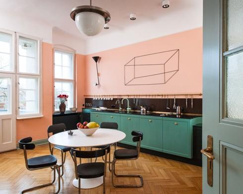 Phòng bếp ấm cúng có gam màu hồng - Ảnh 7.