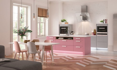 Phòng bếp ấm cúng có gam màu hồng - Ảnh 8.