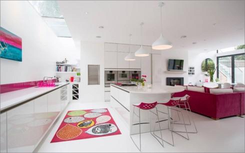 Phòng bếp ấm cúng có gam màu hồng - Ảnh 9.