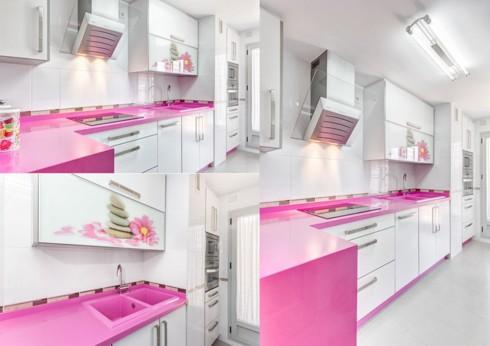Phòng bếp ấm cúng có gam màu hồng - Ảnh 10.
