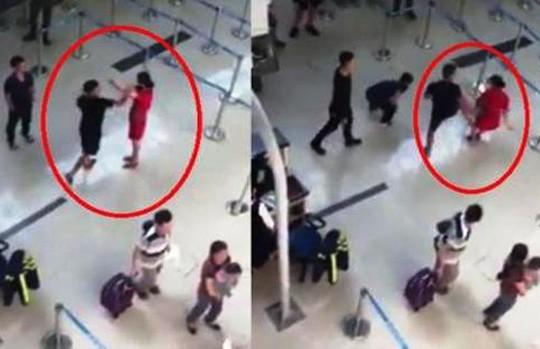 Khởi tố 3 kẻ đánh, đạp ngã nữ nhân viên ở Cảng hàng không Thọ Xuân - Ảnh 2.