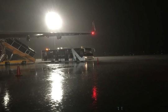 Mưa lớn ở Tân Sơn Nhất, máy bay đi TP HCM hạ cánh ở Đà Nẵng - Ảnh 1.