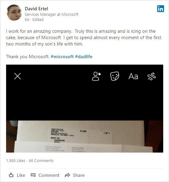 Lá thư đầy cảm động Microsoft gửi cho đứa con mới sinh của nhân viên: Cháu chính là tương lai mà chúng tôi hướng tới! - Ảnh 1.