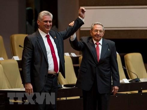 Cận cảnh Tổng Bí thư, Chủ tịch nước Nguyễn Phú Trọng đón Chủ tịch Cuba - Ảnh 15.