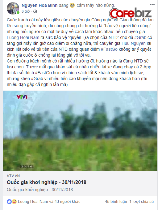 Cãi nhau 30 phút trên sóng truyền hình chưa đủ, lãnh đạo Fastgo và TS. Lương Hoài Nam tiếp tục khẩu chiến trên Facebook, mới nửa ngày đã đá qua lại gần 400 bình luận - Ảnh 1.