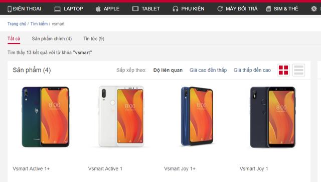 Vsmart lộ diện trên website chính thức nhà phân phối, chỉ chờ chốt giá - Ảnh 2.