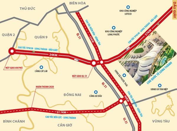 Khởi động đầu tư hàng loạt tuyến đường ven sân bay Long Thành, nhà đất lập mặt bằng giá mới - Ảnh 1.