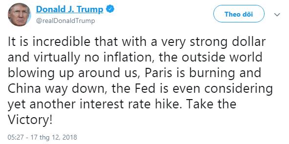 Dòng tweet của Tổng thống Trump khiến người Pháp giận sôi người - Ảnh 1.