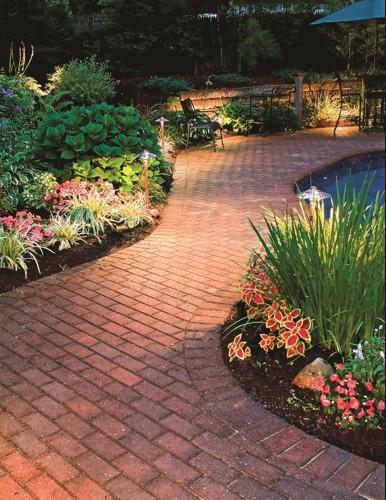 Những khoảng sân vườn đẹp lung linh trong ánh đèn - Ảnh 9.