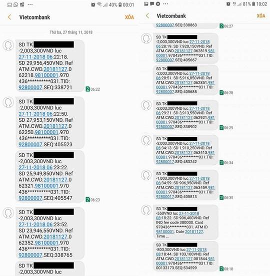 Vietcombank lên tiếng vụ thẻ ATM bị mất 32 triệu đồng - Ảnh 1.
