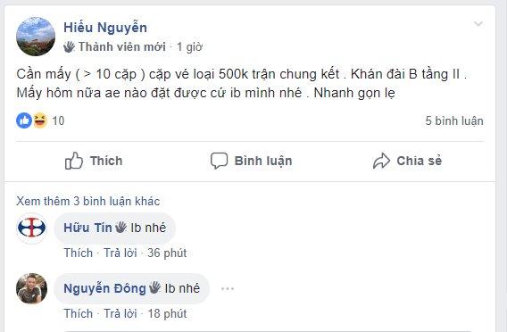 VFF chưa mở bán, chợ vé trận chung kết lượt về giữa Việt Nam và Malaysia đã nhộn nhịp - Ảnh 2.